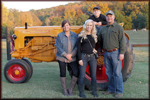 Phillip Herd, nursery owner, and his family in Belvidere, TN